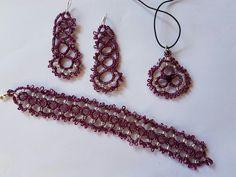 Bracciale orecchini pendente per collier
