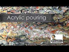 8) tutoriel toile abstraite - acrylique pouring - youtube ... - Difference Peinture Acrylique Et Vinylique