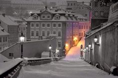 """Snowy Night..... by Martin Froyda #Prague"""