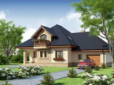 Modern Bungalow House, Modern House Plans, Simple House Design, Modern House Design, Home Fashion, Sofa Design, Planer, Building A House, Outdoor Structures