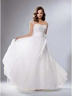Ball Gown Sweetheart Cathedral Train Organza Bridal Gown