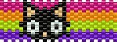 Chococat Small Pony Bead Patterns | Characters Kandi Patterns for Kandi Cuffs