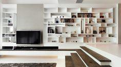 Sala de estar contemporânea por S.I.D.Ltd.