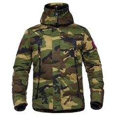 Military Tactical Camouflage Jacket Jacket US Army Navy Thermal Outwear Thick Padded Jacket With Hood Military Style Parkas - 2 Camo Colors Gender: Men Item Type: Outerwear & Coats Outerwear Type: Tactical Jackets Sleeve Style: Regular Lining Material: Cotton Style: Military Hooded: Yes Material: Polyester, Spandex