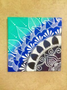 Azul Ombre lona de Henna