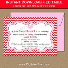 Pink Valentines Day Invitation Template Editable Pink Valentine