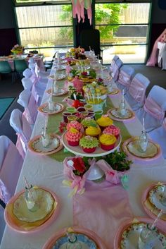 Mismatched pastel plates from Goodwill... Tea Party / Birthday Garden Tea Party