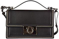 Salvatore Ferragamo women's leather shoulder bag original aileen black