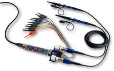 BitScope Micro Raspberry Pi Oscilloscope with Probes and Clips.