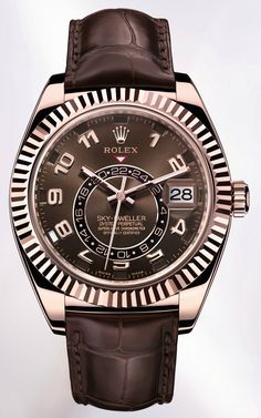 First really new watch from Rolex in a long time....not sure how I feel about this (yeah agreed but best skydweller which always look a bit strange with large roman numerals -expect something more like Brietling Nav for Rolex equal- AG)