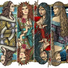 Artist: ° Which one of these is your favorite? Cersei Lannister, Sansa Stark, Gel Pens, Jon Snow, Queens, Mixed Media, Playing Cards, Graphic Design, Illustration