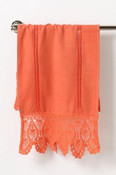 orange anthro hand towel