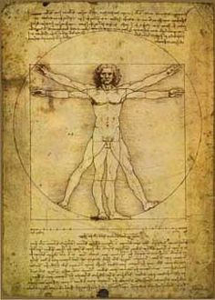 """Vitruvian Man"" by Leonardo da Vinci, 1492"