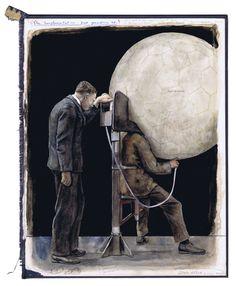 Gideon Kiefer Sculpture, Contemporary Artists, Cool Stuff, Drawings, Inspiring Art, Inspiration, Mixed Media, Collage, Notebook