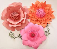 Fondo de flor de papel flores de papel gigantes por APaperEvent