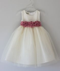 LILY:  Sale - Handmade Flower Girl Dress, Tulle Dress, Bridesmaid Dress .... Was USD99 - Now USD89. $89.00, via Etsy.