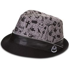 28e4f66dff1 Disney Hat - Fedora Hat - Jack Skellington - Zipper Tim Burton s The Nightmare  Before Christmas Faux-leather band with metal zipper edging Jack Skellington  ...