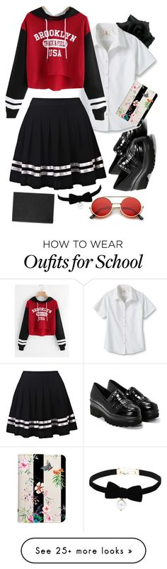 """School House Slumber"" by jordanrosling07 on Polyvore featuring ZeroUV, Nasty Gal, Lands' End and Smythson"