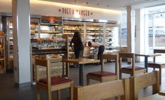 Pret A Manager near Kings Cross Station.