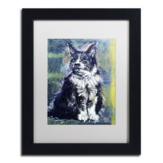 'Kissy Kat' by Lowell S.V. Devin Giclée Framed Painting Print