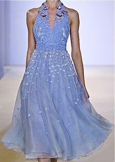 Temperley London, periwinkle dress