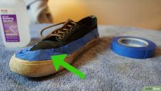 How to Clean Vans. Vans make a variety of primarily white-soled canvas skate-shoes, which look best when they look fresh and clean. If you want to get your Vans looking new again, you can learn a few quick tips to clean them up, bleach the. Skate Shoes, Vans Shoes, Cleaning White Vans, How To Clean Vans, Wash Bags, Canvas Sneakers, Your Shoes, Toms, Stylish