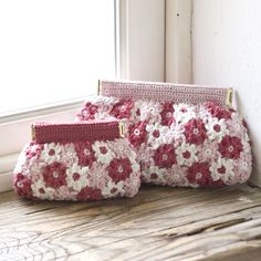 crochet flower purse