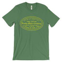 Vintage Advertisement Fine New York Apparel Mens or Unisex Short Sleeve T-shirt Tee