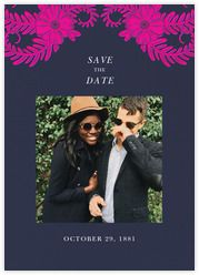 Oscar de la Renta - Paperless Post  This is such a cute & personalised idea for a save the date - could even go one step further for your wedding party and include a photo of you, your partner & the invitee