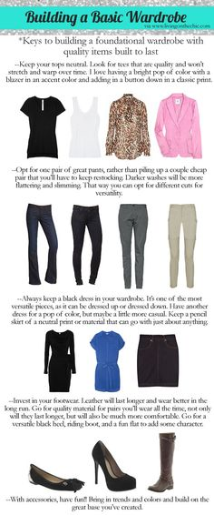 How to build a basic designer wardrobe.