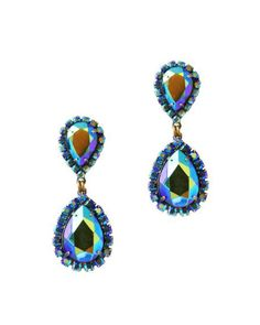 Work or play, the Abba earrings take you from daytime to dancing queen. Surgical steel posts, signed on reverse. Bridal Earrings, Bridesmaid Earrings, Jewel Tones, Statement Earrings, Drop Earrings, Iridescent Fashion, Jewelry Design, Jewelry Accessories, Up Styles
