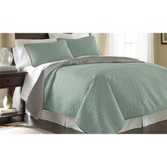 Found it at Wayfair - Sanctuary by PCT 3 Piece Coverlet Set in Jade & Atmosphere http://www.wayfair.com/daily-sales/p/Shine-On%3A-Glam-Bedding-%26-More-Sanctuary-by-PCT-3-Piece-Coverlet-Set-in-Jade-%26-Atmosphere~AMRA2058~E19801.html?refid=SBP
