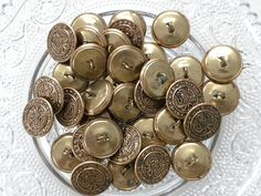 Vintage Military Buttons