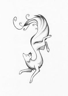 Fox sketch tattoo idea