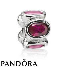 Pandora Red Oval Lights Charm 80230