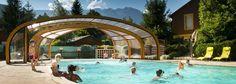 The covered pool at A la Rencontre du Soleil, Les Abrets, France