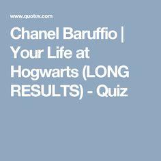 Chanel Baruffio | Your Life at Hogwarts (LONG RESULTS) - Quiz