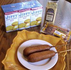 Recipe: Michigan Corndogs, plus Why Some People Don't Like Corndogs – Luna Pier Cook Jiffy Recipes, Dog Recipes, Jiffy Corn Dogs, Jiffy Cornbread Mix, Cornbread Casserole, Corndog Recipe, Nacho Bar, Corn Muffin Mix, Amigurumi