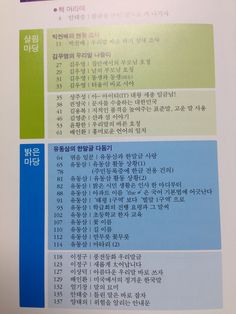 a page of the book about Hangul