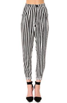 The Blurred Lines Trouser Pant in Black and White by *MKL Collective