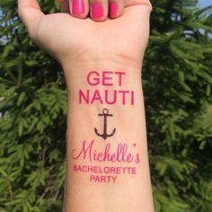 Get Nauti Bachelorette Party Temporary Tattoo