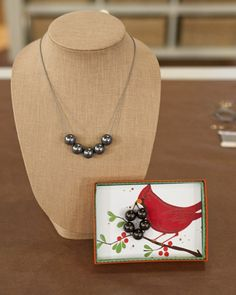 Faux Pearl Necklace  This easy-to-make, affordable necklace is a wonderful gift, especially with your own handmade packaging.