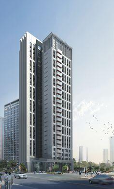 08-071 Condominium Architecture, Hotel Design Architecture, Commercial Architecture, Futuristic Architecture, Facade Architecture, Tower Building, Building Facade, Beautiful Buildings, Apartments