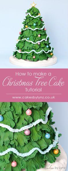 Christmas Tree Cake, Christmas Cake Decorations, Christmas Cupcakes, Christmas Desserts, Christmas Baking, Christmas Fun, Pretty Cakes, Beautiful Cakes, Tree Cakes