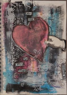 We Rise: art journal page by Christy Butters