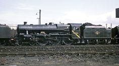 45593 Kholapur at Tyseley MPD, Birmingham. Abandoned Train, Abandoned Places, Steam Trains Uk, Diesel, Steam Railway, British Rail, Train Engines, Steamers, Steam Engine