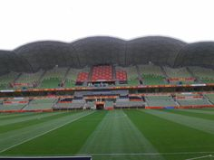 Preparation for the 2015 Asian Cup Opening Ceremony. Wow! That's a lot of seats!