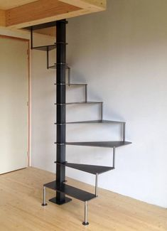 Basement Finishing Ideas - My Romodel Spiral Stairs Design, Small Staircase, Loft Staircase, Tiny House Stairs, Railing Design, Basement Stairs, Spiral Staircase, Staircase Design, Escalier Design