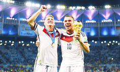 Schweinsteiger and Podolski Julian Draxler, Lukas Podolski, Philipp Lahm, German National Team, Mario Gomez, Bastian Schweinsteiger, World Cup Champions, Toni Kroos, Germany