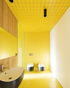 Bathroom Tiles Yellow yellow subway tiles bathroom | living room | pinterest | subway